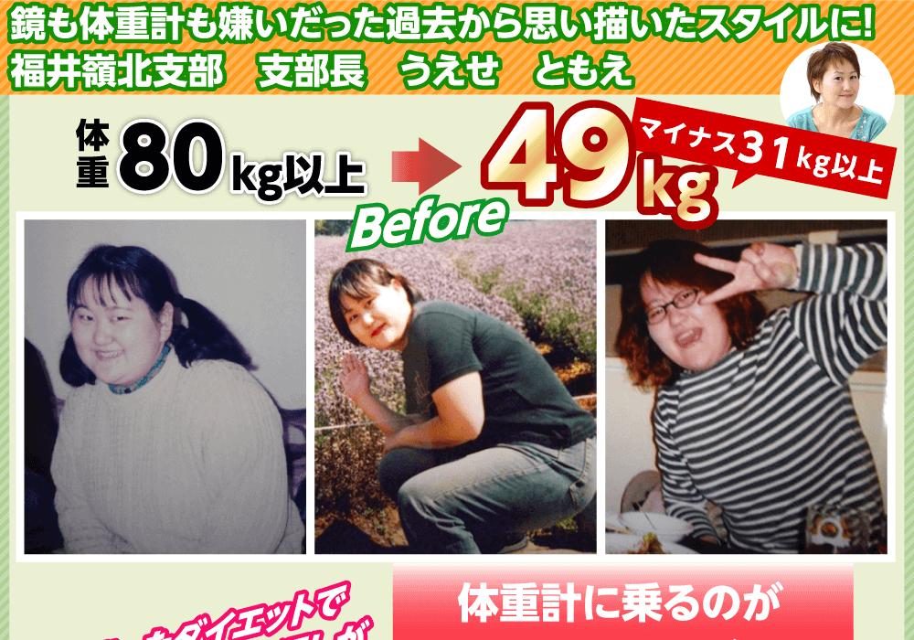 鏡も体重計も嫌いだった過去・・マイナス31kg以上